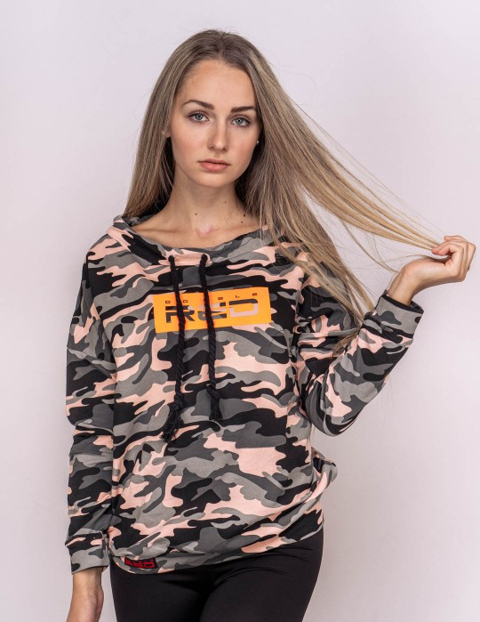 Sweatshirt  Neon Collection Orange Camo