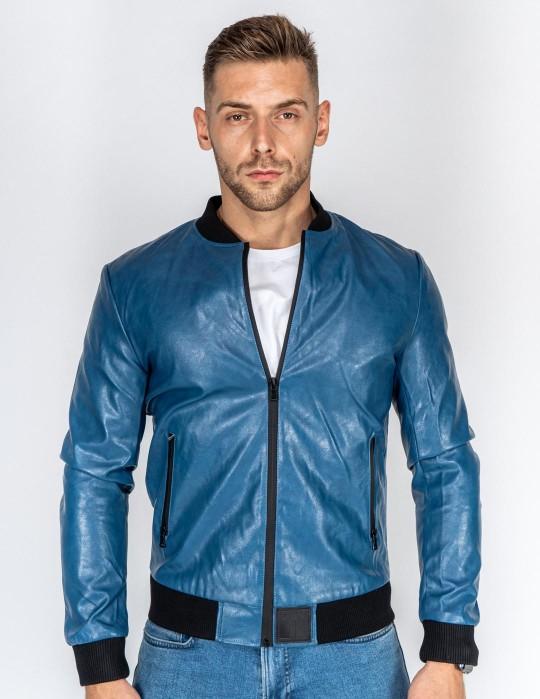 SOPRANO Leather Jacket Blue