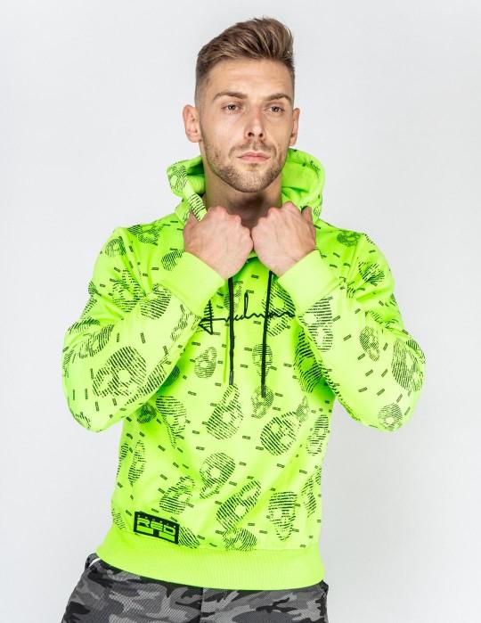 Hoodie I REDMAN Skull Street Edition Neon Green