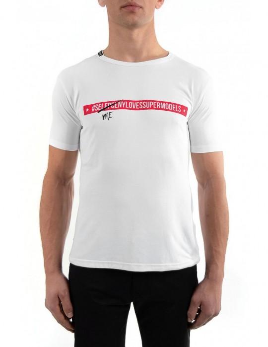 koszulka Selepceny  biała z czerwonym napisem