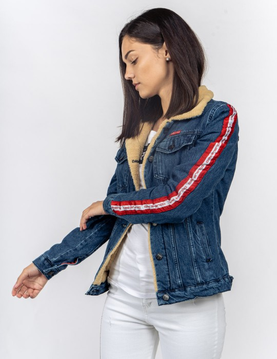 RED JEANS Fly Jacket Blue/White