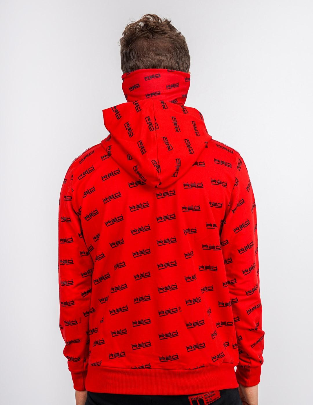 UTTER 2in1 Hoodie&Snood Red