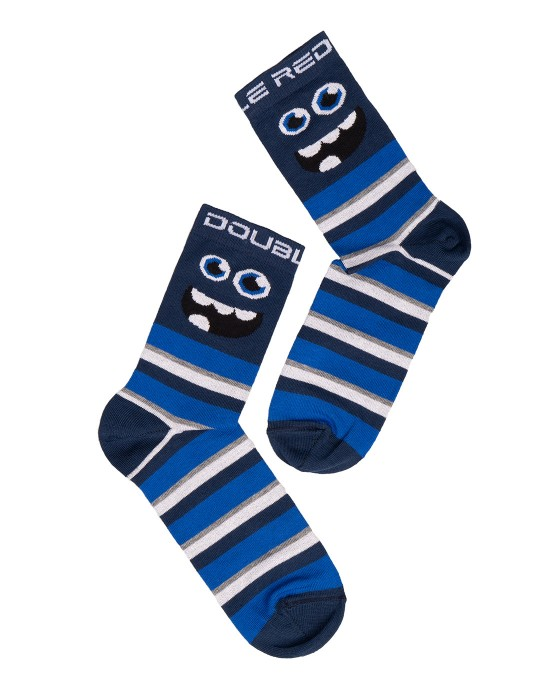 DOUBLE FUN Socks Monster CO. Blue Stripes