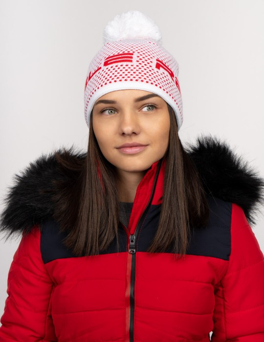 NISEKO Neon Red Snow Unisex Winter Cap