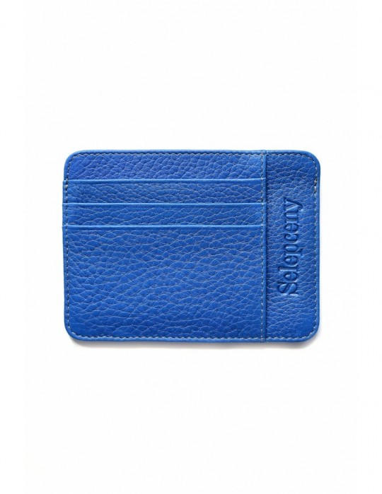 Portfel SY SELEPCENY LIGHTBLUE 100% GENUINE LEATHER CARDHOLDER