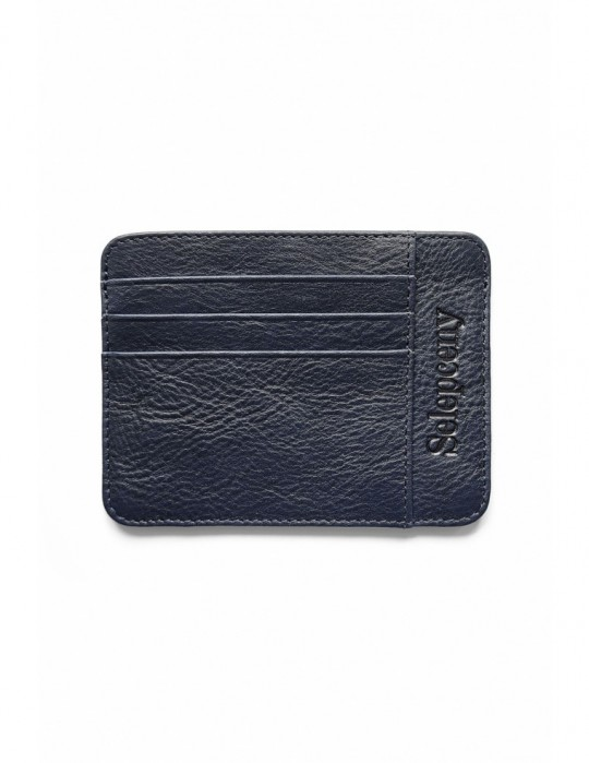 Portfel SY SELEPCENY DARKBLUE 100% GENUINE LEATHER CARDHOLDER