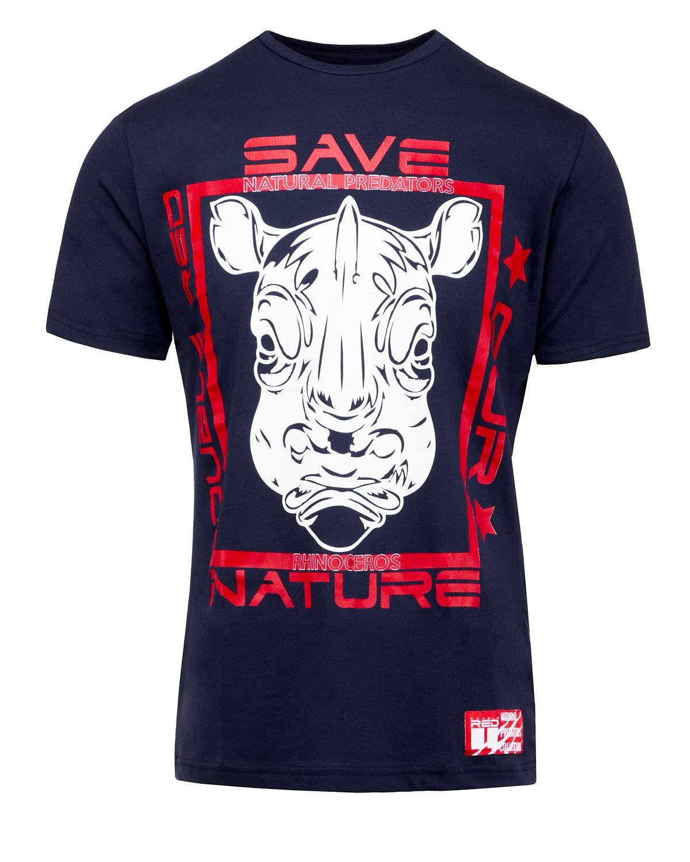 Natural Predators Rhino T-Shirt Navy