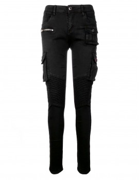 DR W Limited Cargo Jeans Army Black