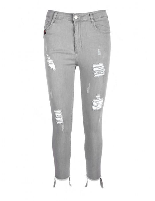 Spodnie DR W Ripped Jeans Grey