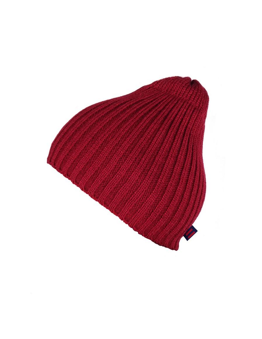 DR Knit Beanie Hat Bordeaux