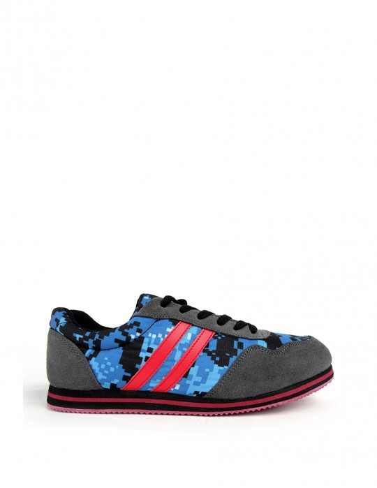 DOUBLE RED camo blue digi sneakers