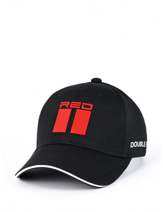 DOUBLE RED Cool Comfort Technology Golf 3D Cap Black