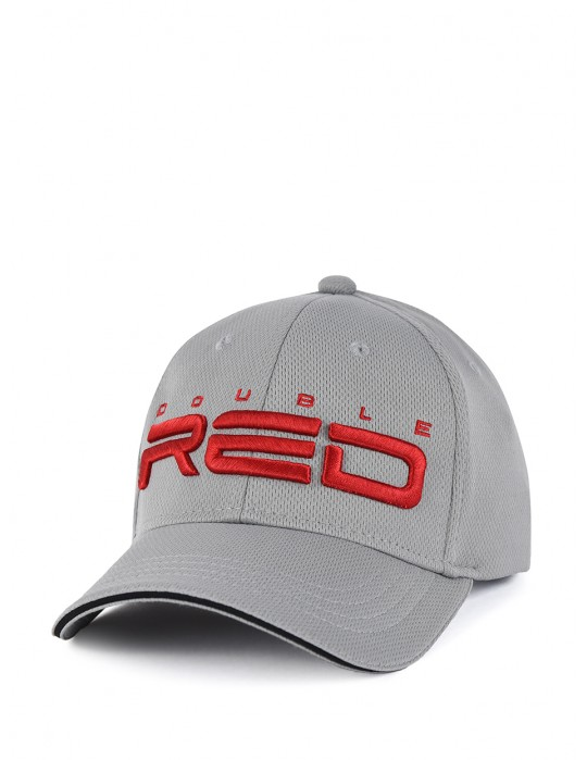 DOUBLE RED Cool Comfort Technology Golf 3D Embroidery Logo Cap Grey