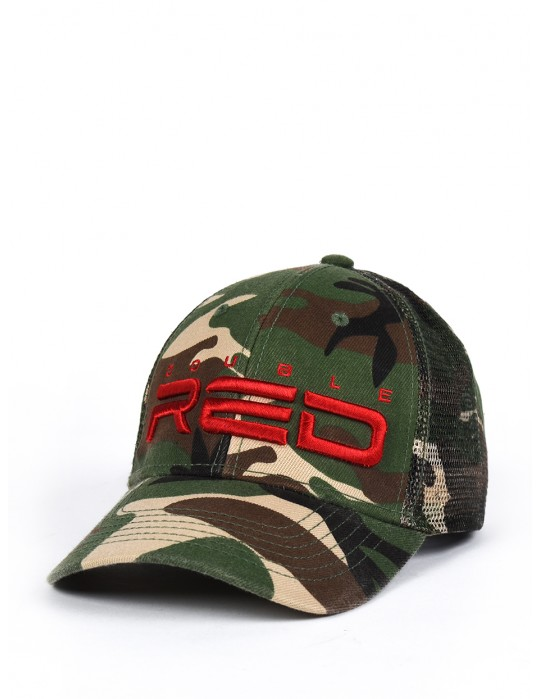 DOUBLE RED Soldier 3D Embroidery Logo Cap CAMODRESSCODE Green
