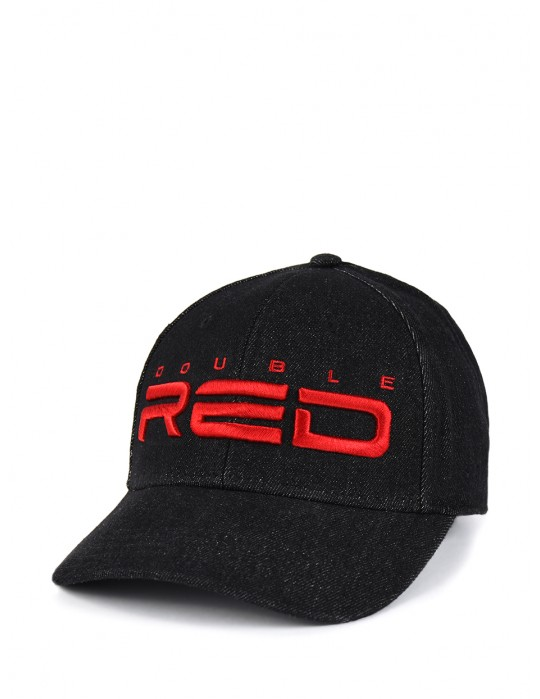DOUBLE RED REDJEANS 3D Embroidery Logo Cap Black
