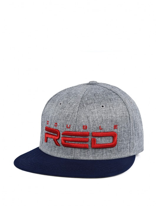 JERSEY DOUBLE RED 3D Embroidery Cap Grey/Blue