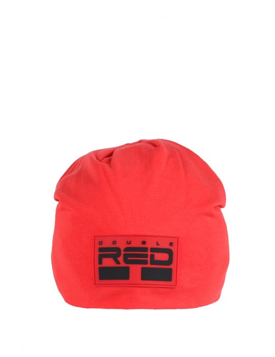 DOUBLE RED BEANIE Red
