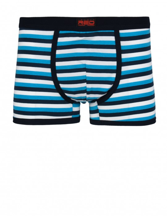 RED BOXER Stripes Navy
