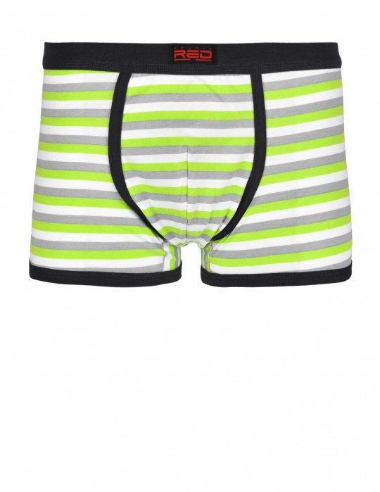 RED BOXER Stripes Grey/Green