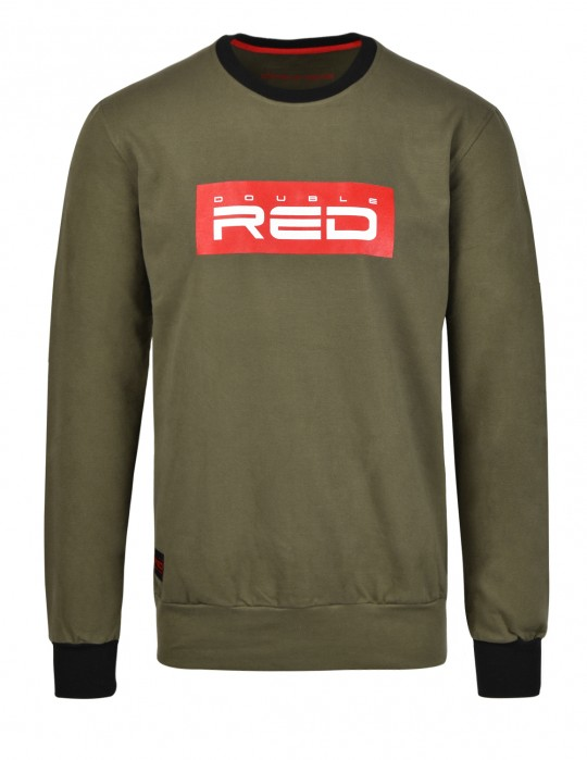 Sweatshirt All Logo Olive