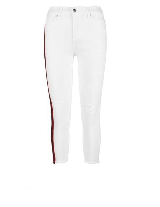 STRIPES Jeans Collection White