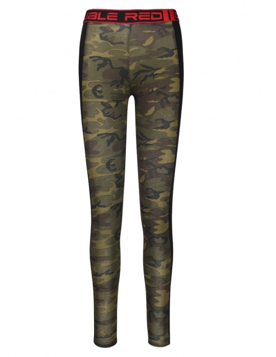 Leginsy RED LEGGINS Green Camo