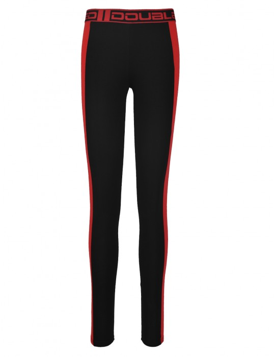 Leginsy RED LEGGINS Black/Red