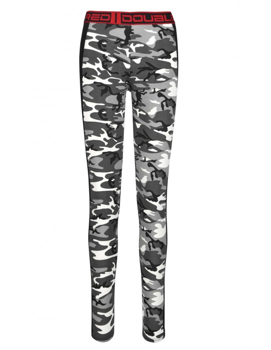 Leginsy RED LEGGINS B&W Camo