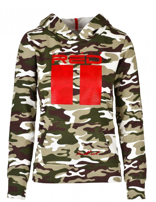 DR W Sweatshirt All Logo Green Camo