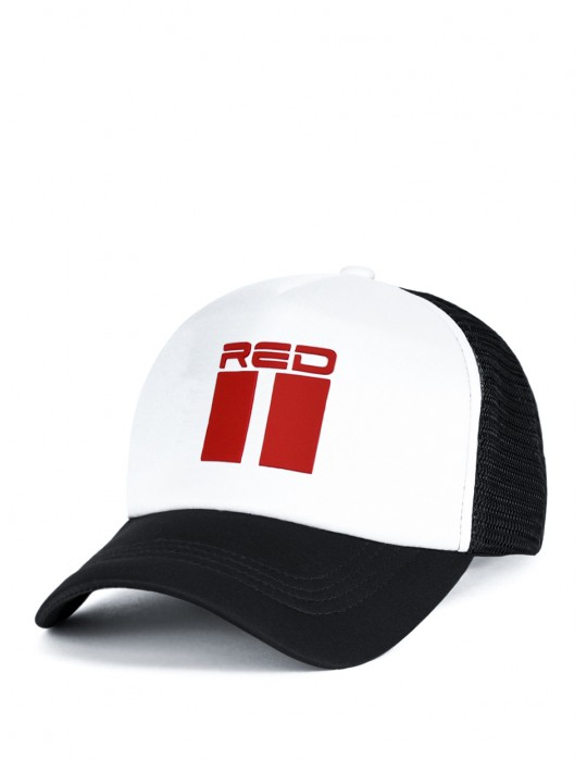 DOUBLE RED 3D Black/White Cap