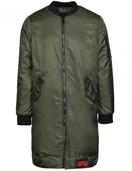 THE PUNISHER Long Size Bomber Jacket Olive