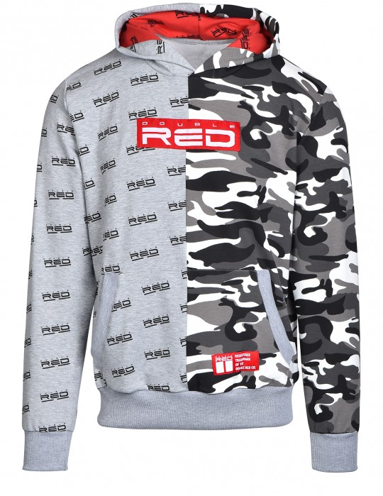 Hoodie DOUBLE FACE Grey/BW Camo