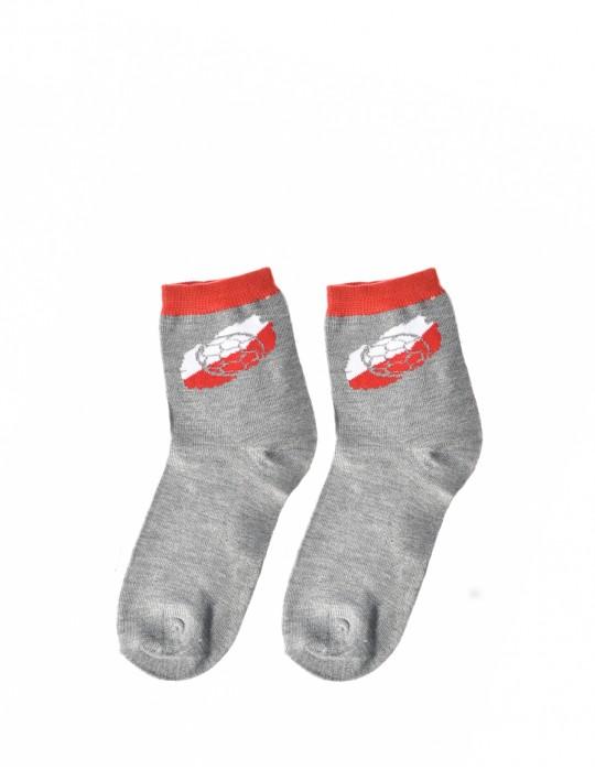 KID Fun Socks Grey Soccer