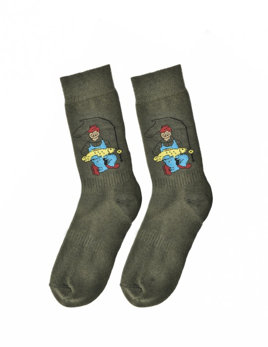 Men's FUN Socks Fisher Man