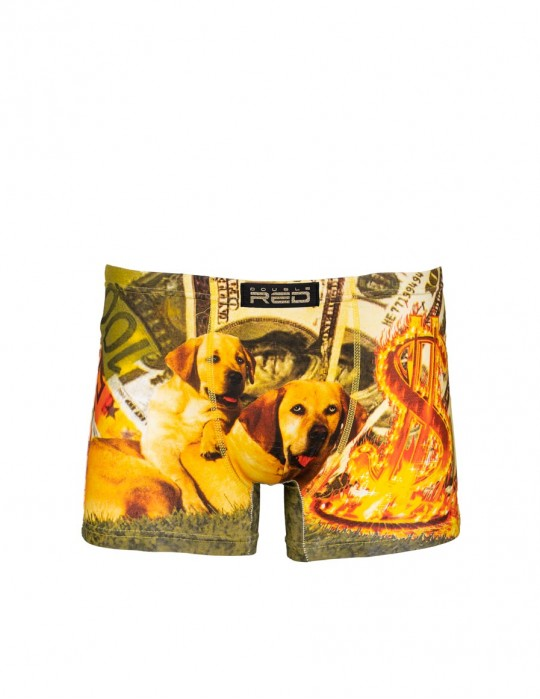 2FUN Boxers Rich Hot Dogs Green