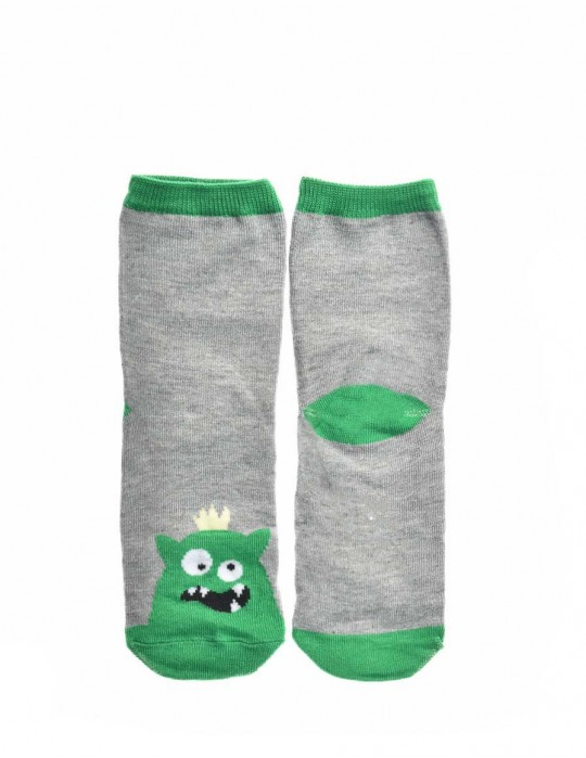 KID Fun Socks Grey / Green Monster