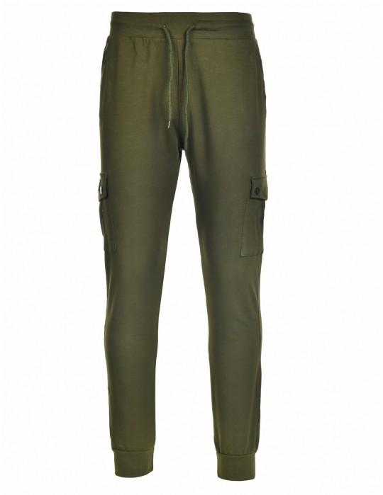 Sweatpants Side Pocket Green